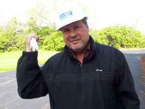 Rich Hughes pictured with Parjana's EGRP device